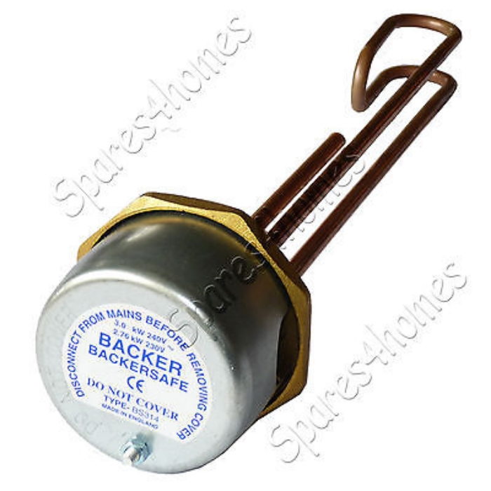 14 Copper Immersion Heater Hot Water Cylinder Element Thermostat ...