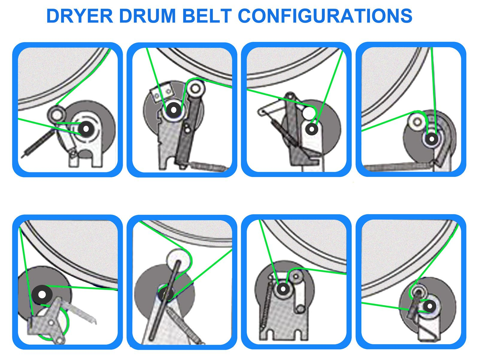 Dryer Belt Puiiey Configurations